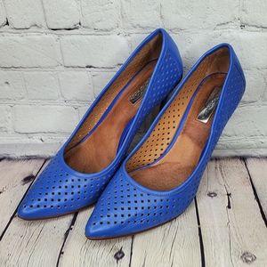 Halogen Mandie Perforated Pointy Toe Pump heels